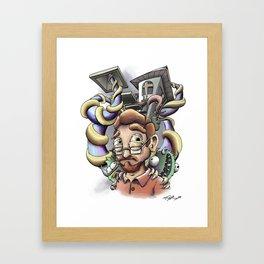 Headcase (Self-Portrait 2012) Framed Art Print