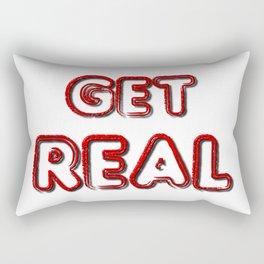 Get Real Rectangular Pillow
