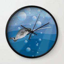 Gnarly Narwhal Wall Clock