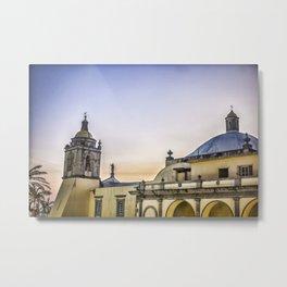 iglesia principal de alvarado veracruz Metal Print