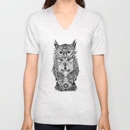 The Owl's Time Unisex V-Neck