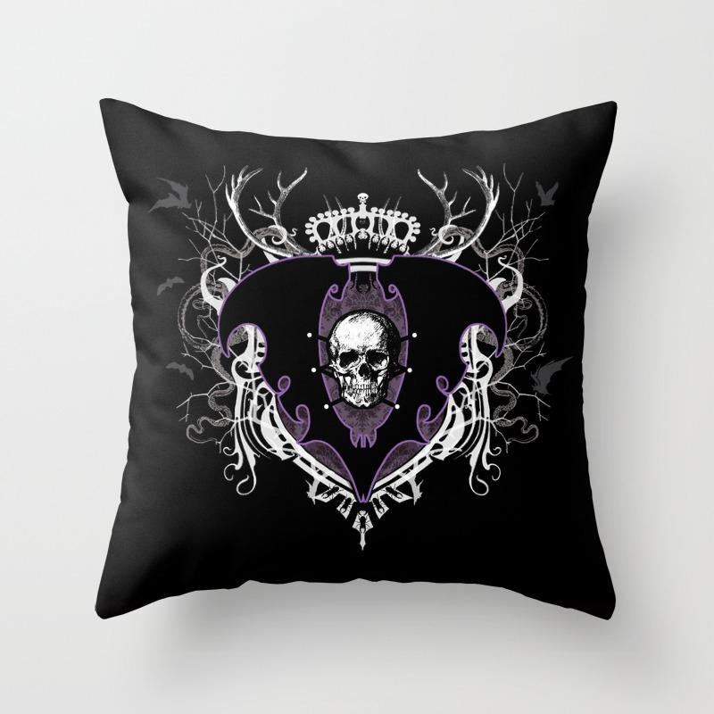 Aurelio Voltaire Crest Throw Pillow By Aureliovoltaire Society6