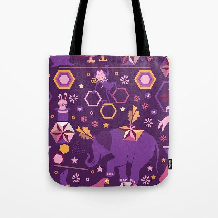 Hexagon circus Tote Bag