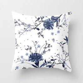 Blue roses #81 Throw Pillow