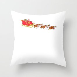 Christmas Holiday Santa English Bulldog Xmas Dog Throw Pillow