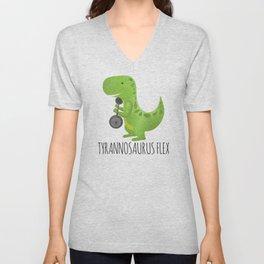 Tyrannosaurus Flex Unisex V-Neck