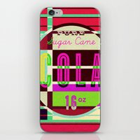 cocaine iPhone & iPod Skins featuring Cola - Vintage Soft Drink by Fernando Vieira