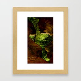 Cave-out Kiss Framed Art Print