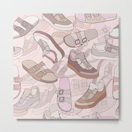 seamless pattern with shoes Metal Print