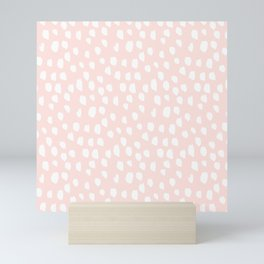 Hand drawn dots on pink - Mix & Match with Simplicty of life Mini Art Print
