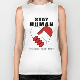 Stay Human Biker Tank