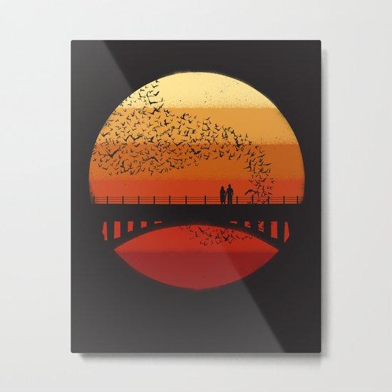 Into the Setting Sun Metal Print