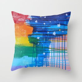 Flags for the Future 2 Throw Pillow