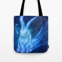 returns Tote Bags featuring Bluebell Returns by ShadowPaw Pictures