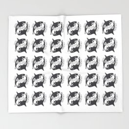 Save The Orcas (50% of commission is donated to the World Wildlife Fund) Throw Blanket