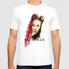 Go ahead SMALL Mens Fitted Tee White