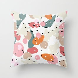 colorful shapes and figures Throw Pillow