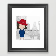 Agent Carter Framed Art Print