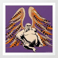 ape Art Prints featuring Ape by Miriam Kendrick