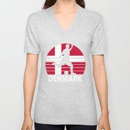 Denmark Soccer Football DNK Unisex V-Neck