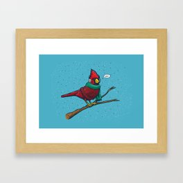 Annoyed IL Birds: The Cardinal Framed Art Print
