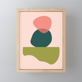 Living Coral Abstract 3 Framed Mini Art Print