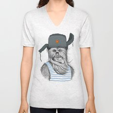 Russian Chewbacca Unisex V-Neck