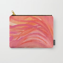 Abstract Pink Orange Purple Stripes Painting Girl Summer Colorful Carry-All Pouch