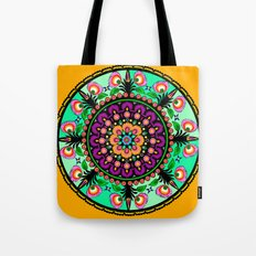 round flower collage Tote Bag