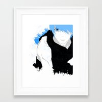 kuroko Framed Art Prints featuring Phantom Kuroko by Kellie Anne