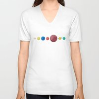 planets V-neck T-shirts featuring Happy Planets. by Caleb Boyles
