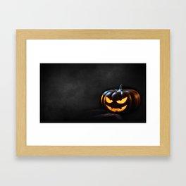 Halloween Pumpkin Jack-O-Lantern Spooky Framed Art Print