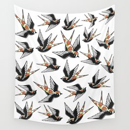 Rose Sparrows Wall Tapestry