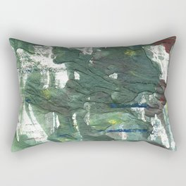Feldgrau abstract watercolor Rectangular Pillow