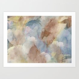 Earth Color Watercolor Abstract Art Print
