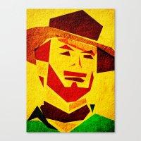 clint barton Canvas Prints featuring Clint by Triplea