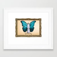 givenchy Framed Art Prints featuring Papilio Givenchy by GirlAnnachronism