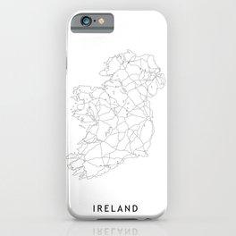 Ireland White Map iPhone Case