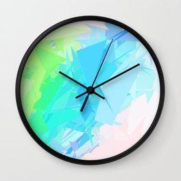 Island Paradise Pastel Abstract Wall Clock