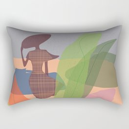Abstract girl pro Rectangular Pillow