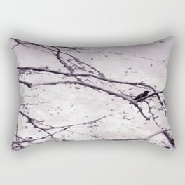 Winter Crow Rectangular Pillow