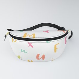 A to Z • Whimsical Crayon Alphabet Pattern Fanny Pack