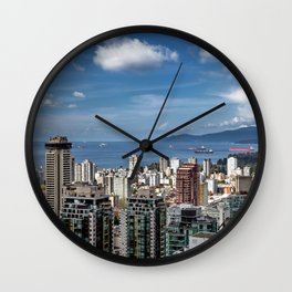 Aerial view at Downtown Vancouver Wall Clock