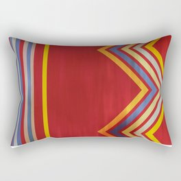 Stripes and Chevrons Ethic Pattern Rectangular Pillow