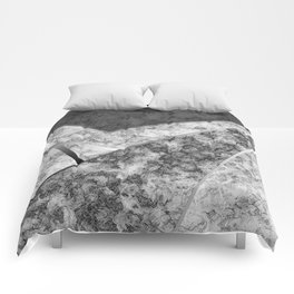 Combined abstract pattern in black and white . Comforters