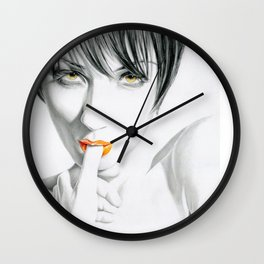 Burning sun Wall Clock