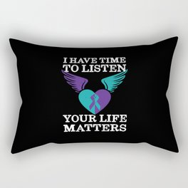 Your Life Matters Mental Health Suicide Awareness  Rectangular Pillow