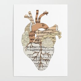 Sound Of My Heart (on white) Poster
