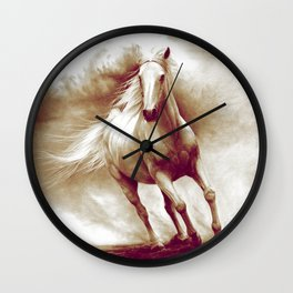 Horse in storm II. recolored version Wall Clock