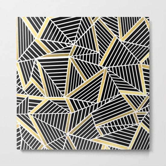 Ab Lines 2 Gold Metal Print